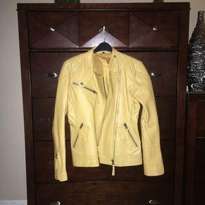 Jackets & Blazers - Genuine Yellow Leather Jacket